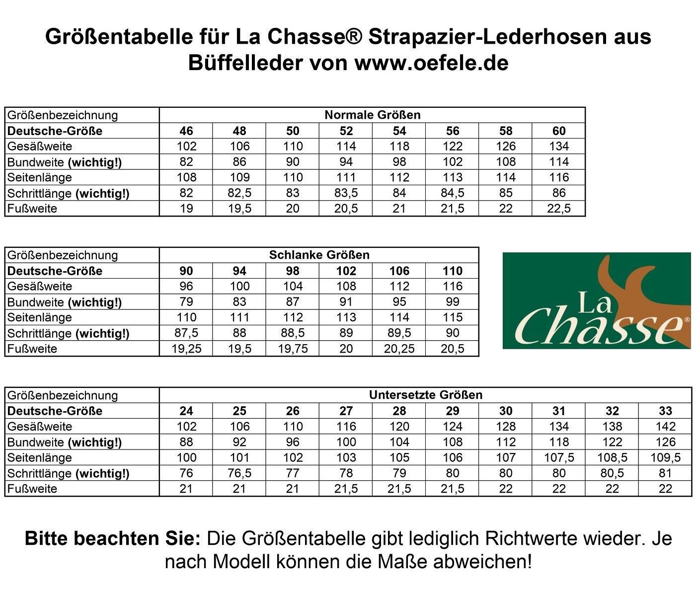 La Chasse® Jagd-Lederhose Büffelleder Herren Jagdhose Jagdlederhose Rindleder